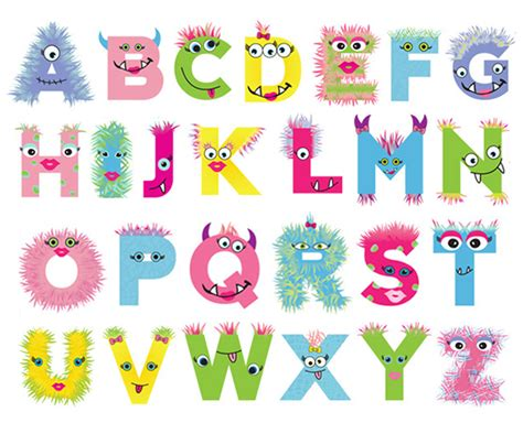 printable monster alphabet letters wystar design graphic design website design chicago