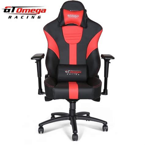 gt omega master xl racing office chair black and leather
