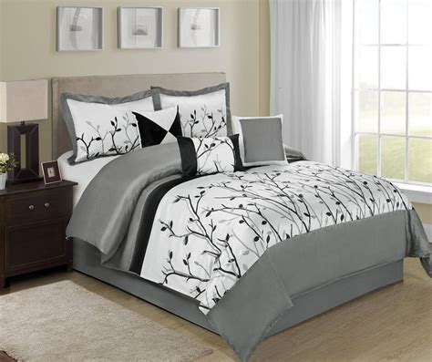 tree branch comforter 7 piece willow tree branches black white design bed in a