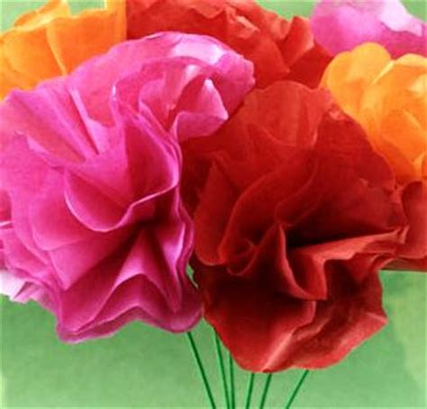 How To Make Crinkle Paper Flowers - a plain and simple homeschool beautiful tissue paper flowers