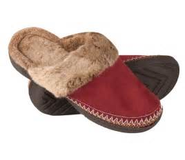 woodlands s microsuede clog slippers