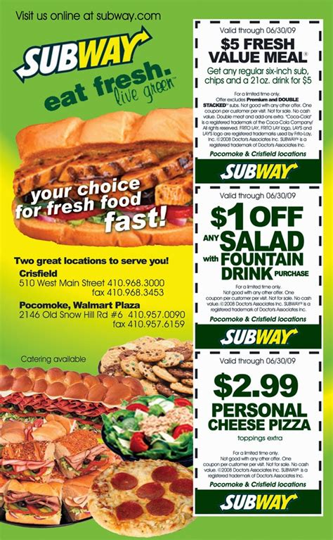 subway printable coupons blogspot printable coupons subway coupons
