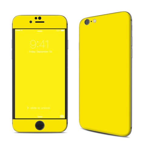 apple iphone 6 skin solid state yellow by solid colors decalgirl