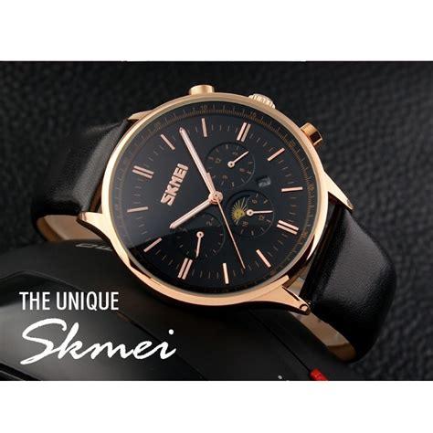 Skmei Jam Tangan Kasual Pria skmei jam tangan kasual pria 9117cl black gold