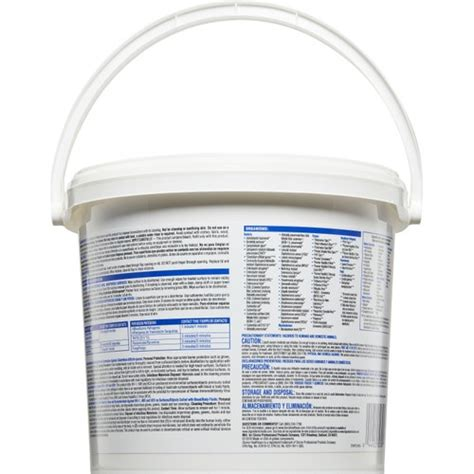 clorox healthcare bleach germicidal wipes  count bucket wipes cleaning chemicals