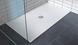 Shower Trays Duravit Stark White Low Profile Luxury Steel Shower Tray