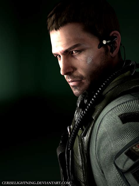 chris redfield render by ceriselightning on deviantart