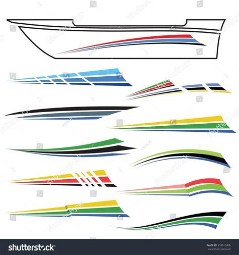monterey boat graphics vector illustration boat graphics on white stock vector