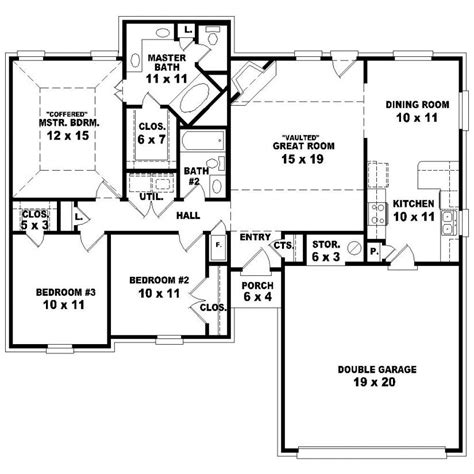 3 bedroom 3 5 bath house plans escortsea 3 bedroom 2 bath 1 story house plans www indiepedia org