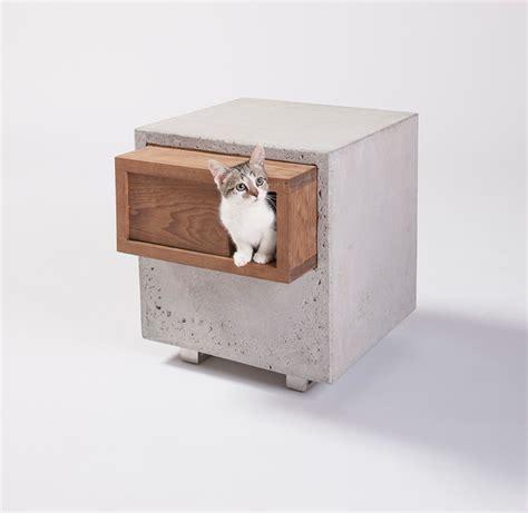 designboom cat furniture architects create cat shelters for feline focused event in