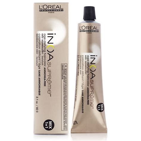 loreal inoa supreme colour chart l oreal inoa supreme age defying ammonia free hair color 8