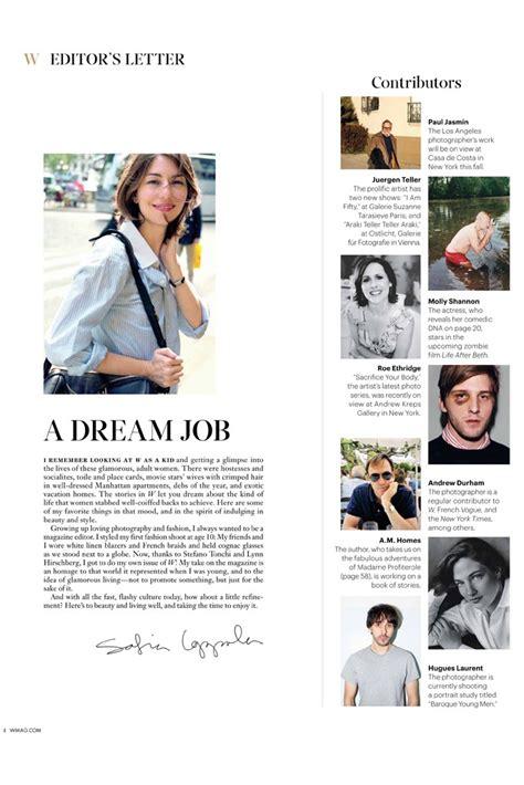 Magazine Layout Editor Salary | sofia coppola guest edits for w magazine molly shannon