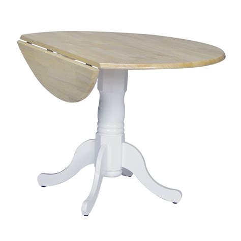 Pedestal Dining Table With Leaf International Concepts Dual Drop Leaf Pedestal