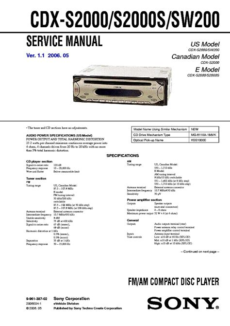 wiring diagram sony cdx s2010 sony cdx gt57up ignition