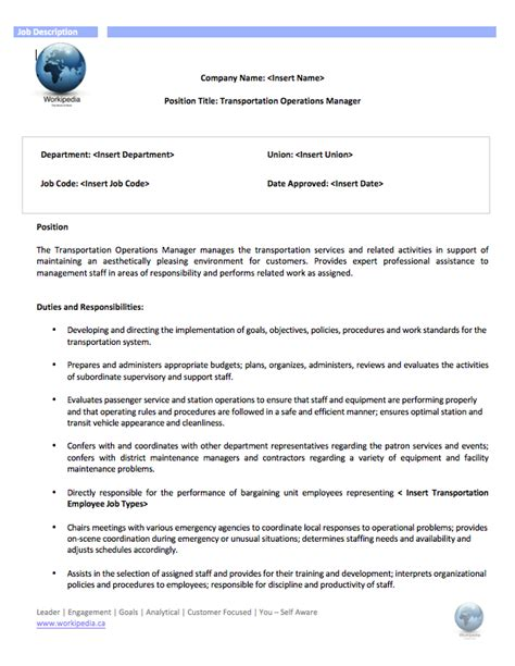 Transport Operations Manager Cover Letter by Business Development Transportation Operations Manager Act As Project Manager
