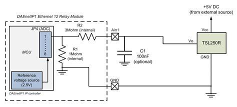 light to voltage optical sensor dae an008 connecting analog sensors to daenetip1 snmp 12