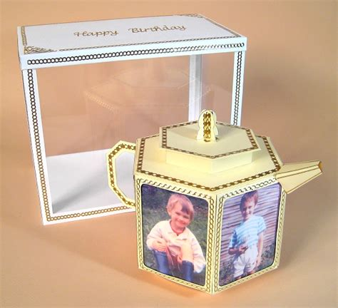 3d Card Craft Templates by A4 Card Templates 3d Teapot With Photo Frames