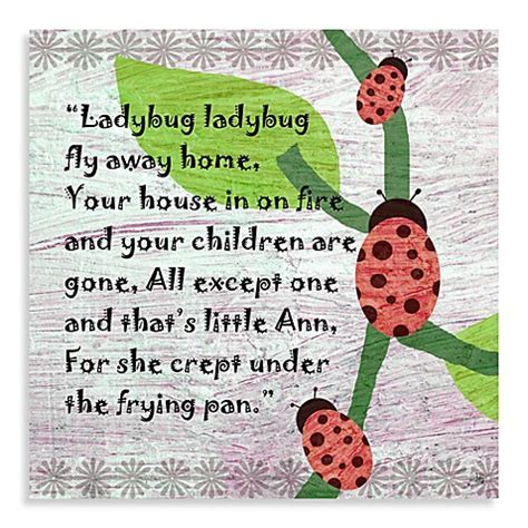 Buy Green Leaf Art Ladybug Poem Canvas Art from Bed Bath