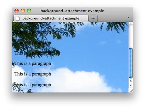 background attachment fixed css properties background attachment w3c wiki