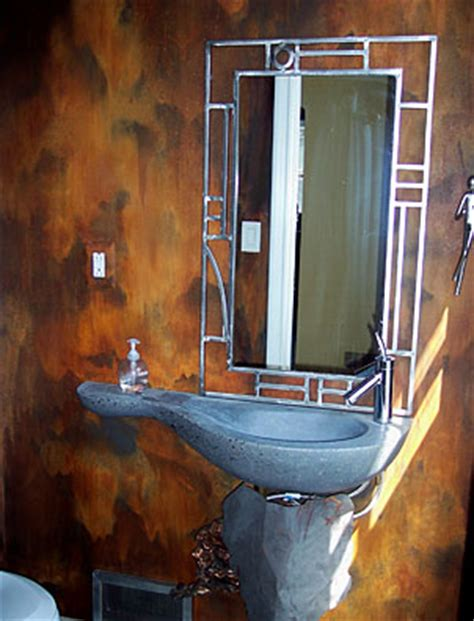 what paint finish to use in bathroom modern masters iron paint and rust patina finish in a