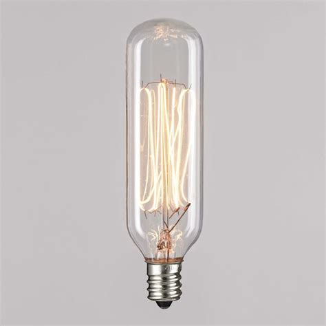 t25 40 watt incandescent filament light bulb 40t25cl e12