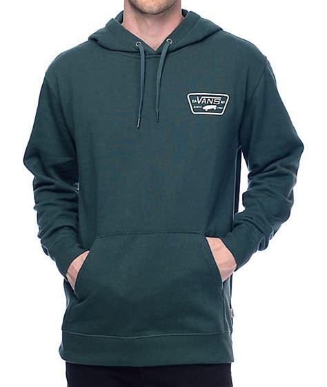 Sweater Vans Patch vans small patch green hoodie zumiez
