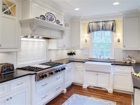 cottage kitchens hgtv white cottage style kitchen with gas range hgtv