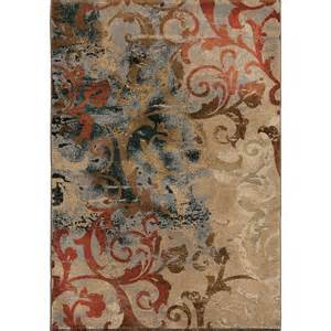 orian radiance 3201 distress scroll multi area rug payless