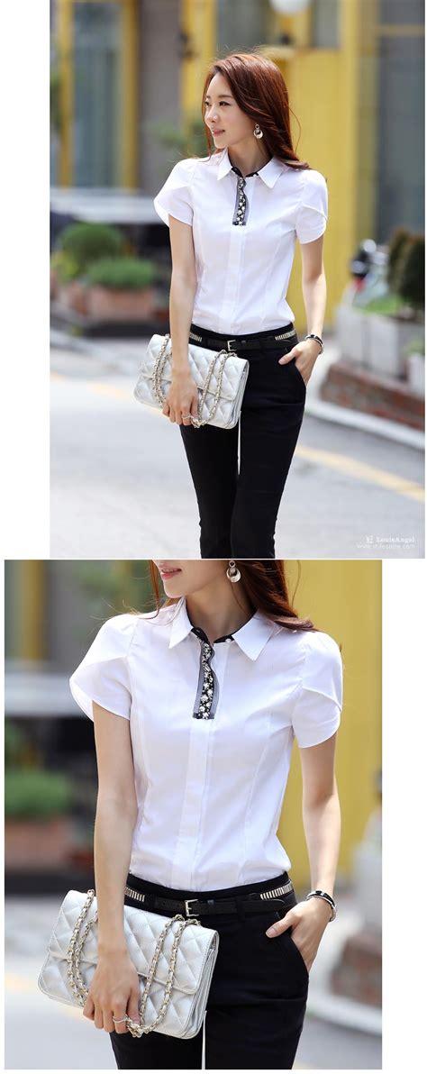 Kemeja Wanita Kerja Putih kemeja wanita kerja warna putih simple toko baju wanita murah goldendragonshop
