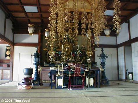 Japanese Temple Interior by 02 27 2001 Japan Day 6