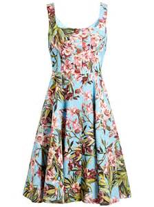 dolce amp gabbana printed puff sleeve mini dress in blue lyst