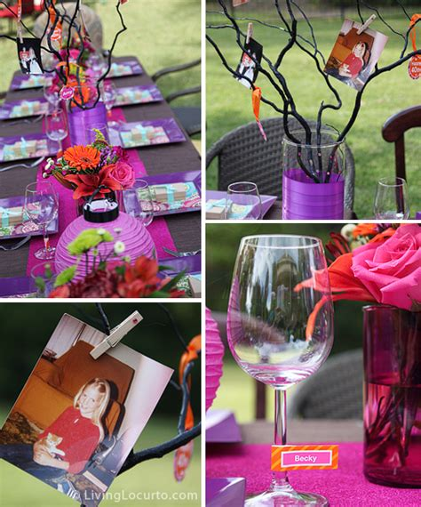 table decoration ideas for birthday party 40th birthday party ideas backyard table decorating ideas