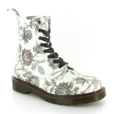 dr martens pascal womens tapestry print leather 8 eyelet