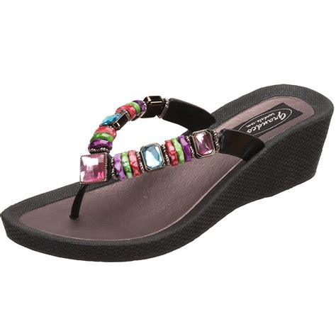 grandco sandals grandco sandals rainbow 2 quot wedge 26462e jeweled sandals