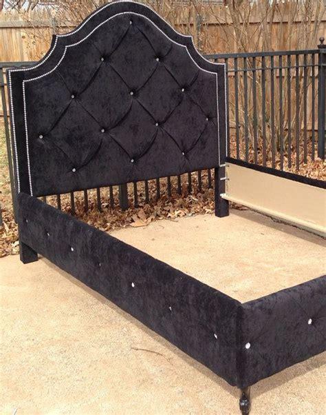 twin bed tufted headboard tufted bed queen king full twin headboard footboard rails