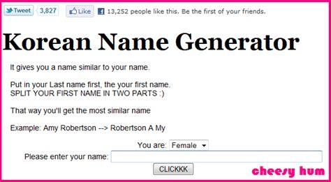 membuat nama korean name generator image gallery korean name generator