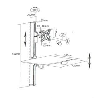 Articulating Tv Wall Mount With Component Shelf by Mi 815b Mount It Wall Mounted Tv And Component Shelf