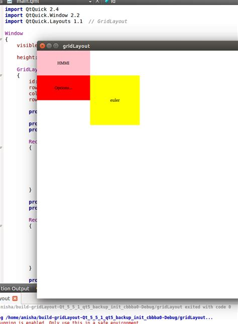 qml layout type qt how to put a rectangle in a particular row and column