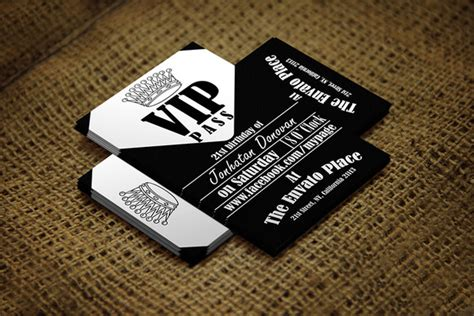 Vip Pass Card Template by Retro Vip Pass Card Card Templates On Creative Market