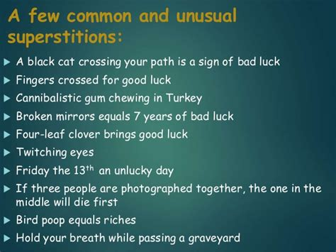 common superstitions common superstitions common superstitions superstition