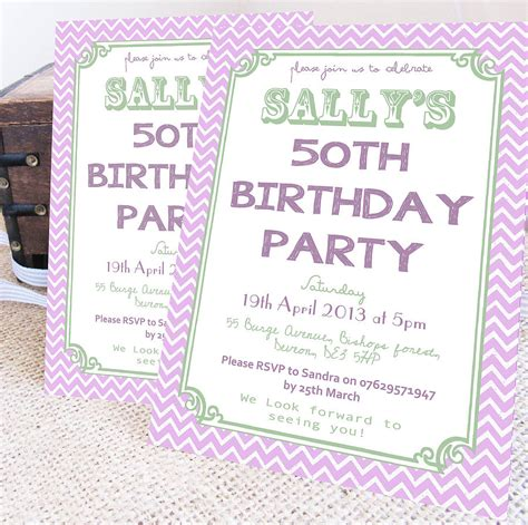 Personalised Invitations by Personalised Milestone Birthday Invites By Precious