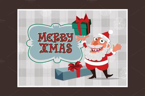 santa card template santa card card templates on creative market