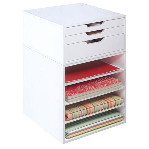craft paper storage drawers 3 drawer organizer cube from michael s is great for