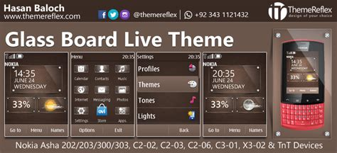 themes for nokia c2 06 touch and type glass board live theme for nokia asha 202 300 303 c2 02