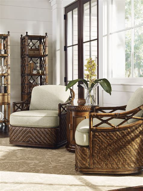 tommy bahama living room furniture tommy bahama home living room diamond cove swivel chair