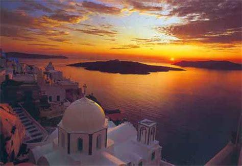 santorini greece famous sunset