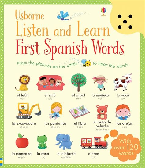learn spanish words 0956257852 listen and learn first spanish words at usborne children s books