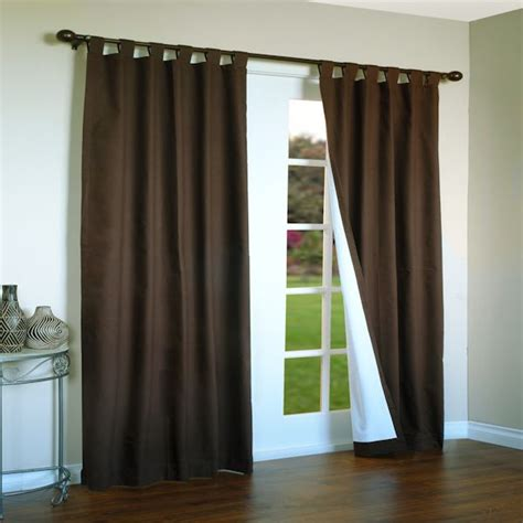 insulated tab curtains weathermate thermalogic insulated tab top curtain panel