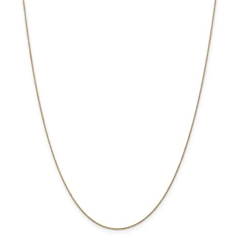 14k 6mm solid polished cable chain cable chains 14k 75mm solid polished cable chain
