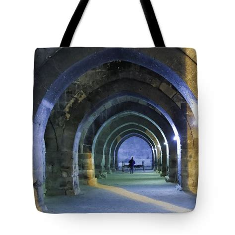 Aksara Tote Bag sunset through arches of sultanhani photograph by phyllis
